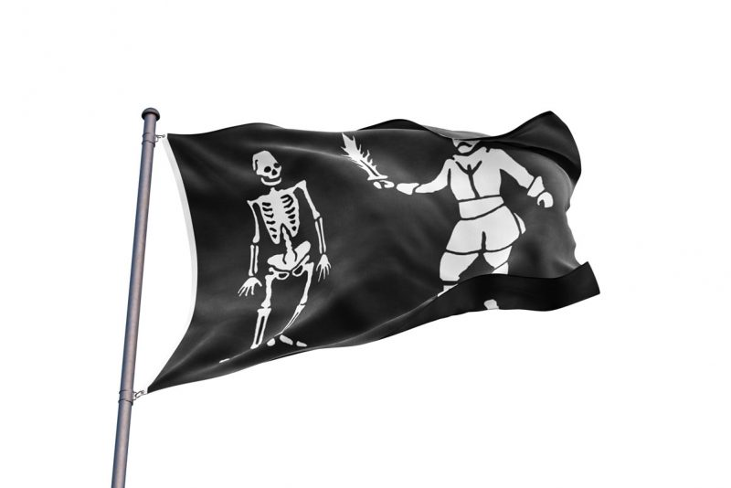 Bart Roberts Pirate Flag - Sons of Pirate