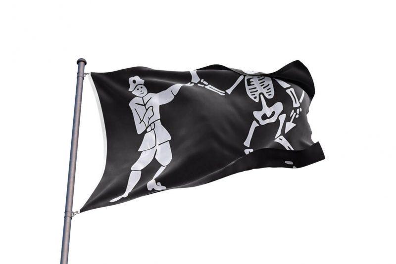 Black Bart Roberts Flag - Pirate Flag