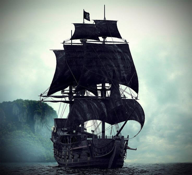 Black Pearl Jolly Roger - Sons of Pirate