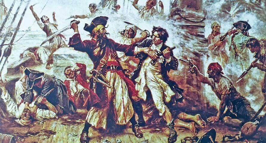 Blackbeard terror at sea - Edward Teach die