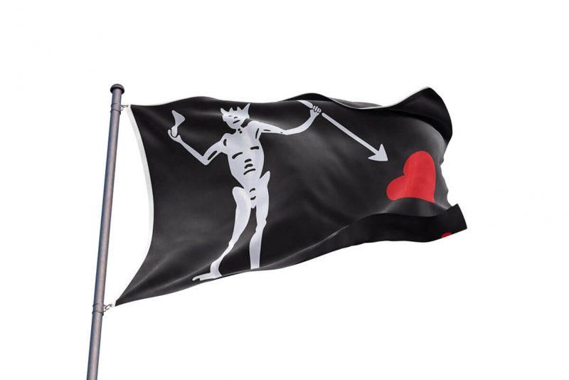 Edward Teach Flag - Sons of Pirate