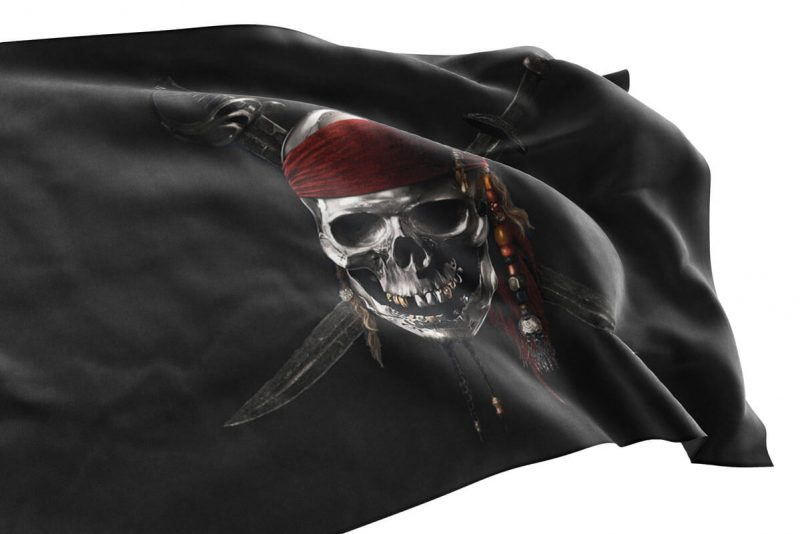 Jolly Roger Flag Pirates of Caribbean - Sons of Pirate