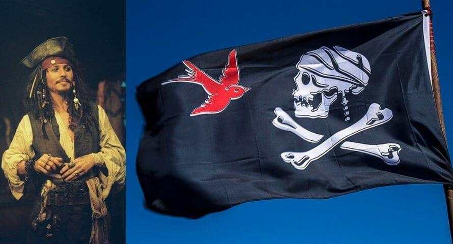Jolly Roger Jack Sparrow - sparrows black flag - Sons of Pirate