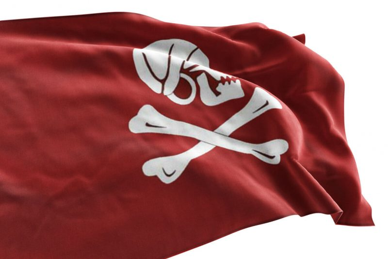 Jolly Roger Red Flag - Sons of Pirate