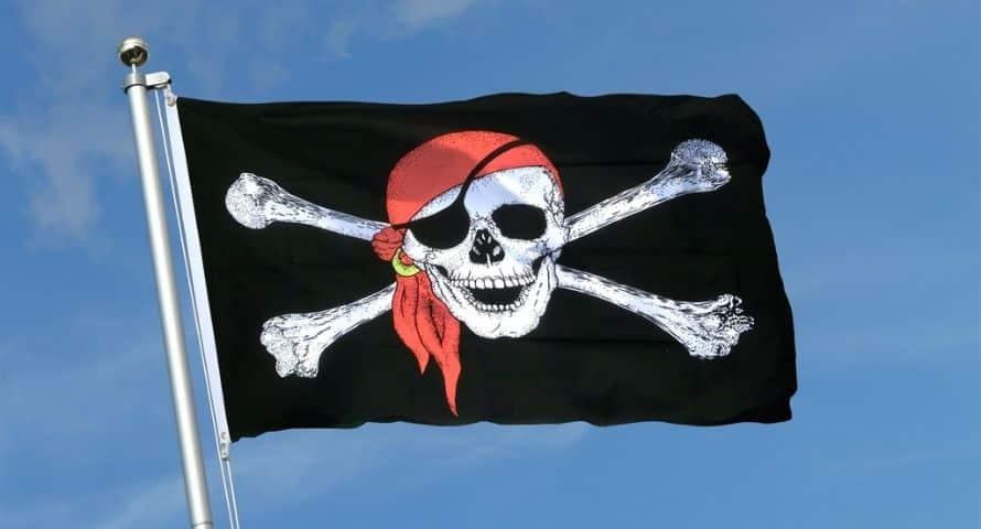 Jolly Roger Skull Crossbones - One of Pirate