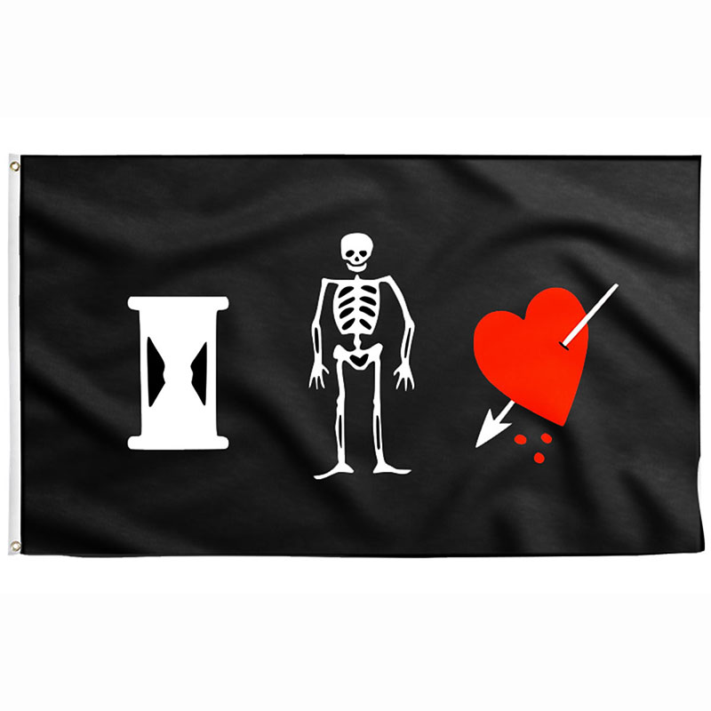 Pirate Flag Skeleton Heart - Sons of Pirate