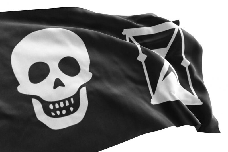 Pirate Flag w Hourglass - Sons of PIrate