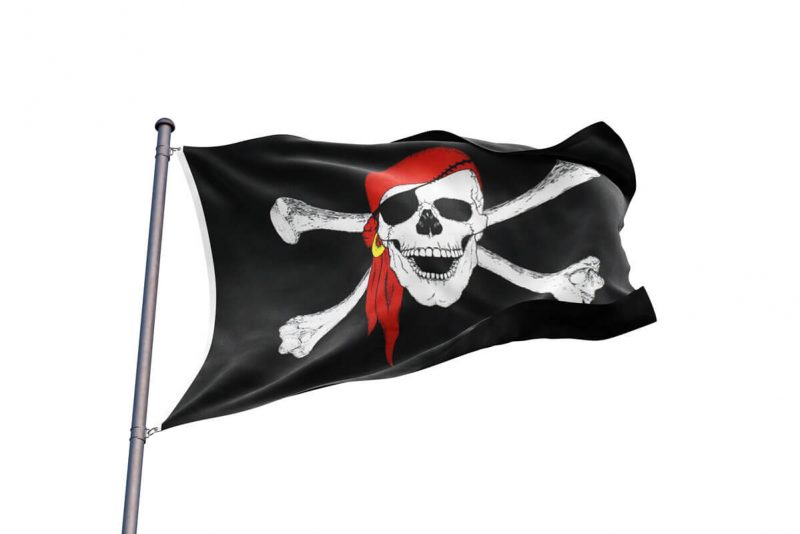 Pirate Flag with Skull and Crossbones - Sons of Pirate