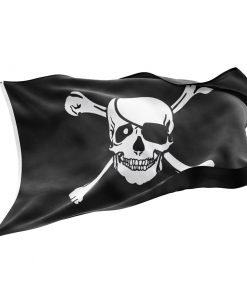 Pirate flag with eye patch and cross bones - Sons of Pirate
