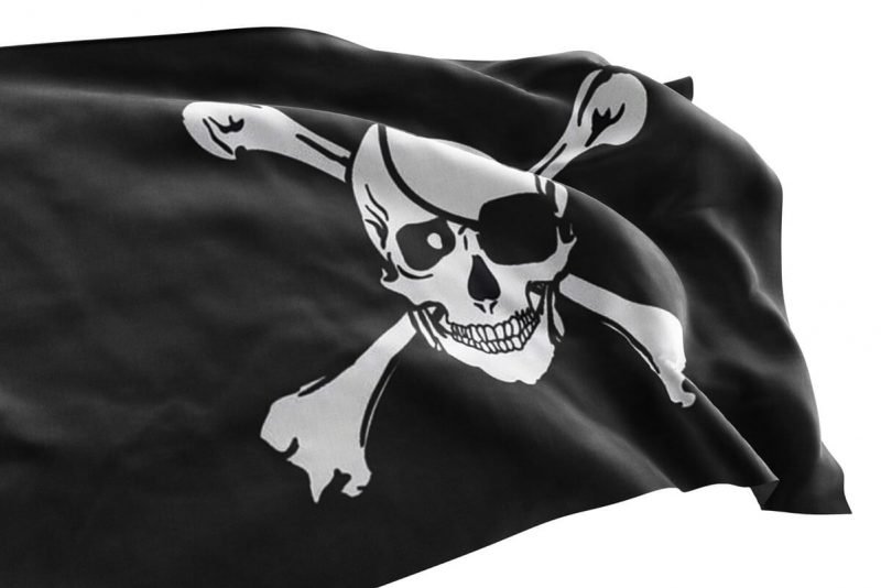 Pirate flag with eye patch and crossbones - Sons of Pirate