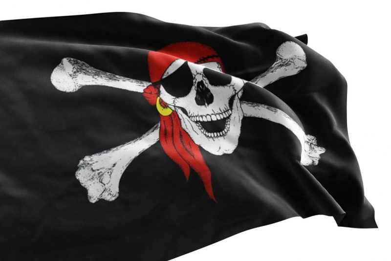 Pirate Ship Skull and Crossbones flag - Sons of Pirate