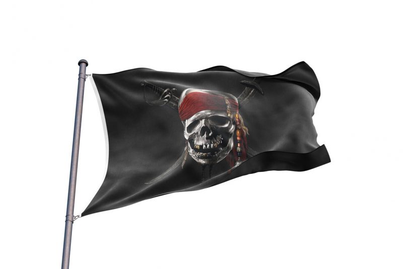 Jolly Roger Pirates of Caribbean Flag- Sons of Pirate