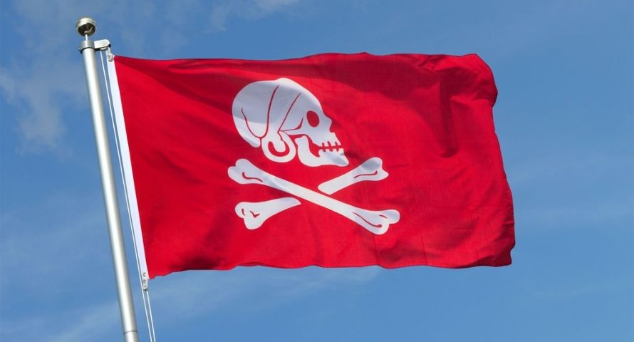 Red Jolly Roger - Sons of Pirate