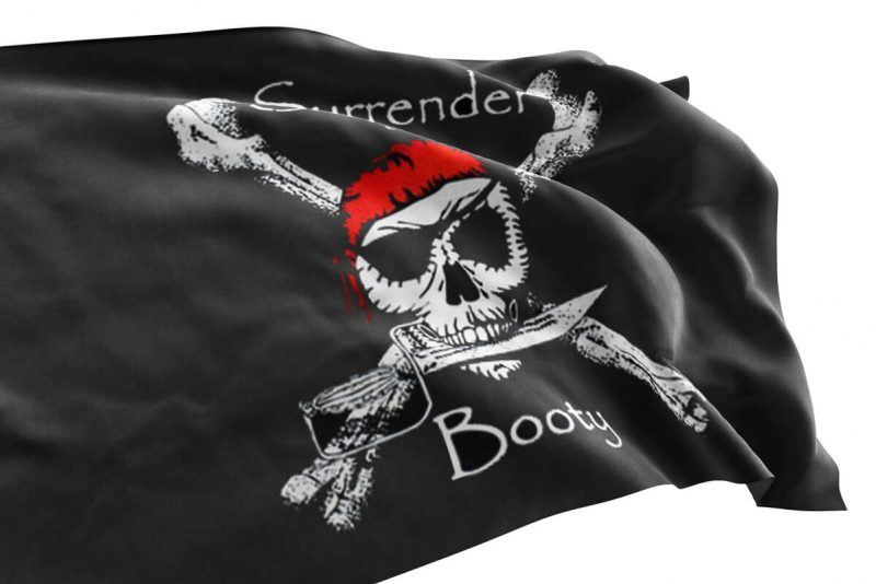 Surrender the booty boat flag - Sons of Pirate