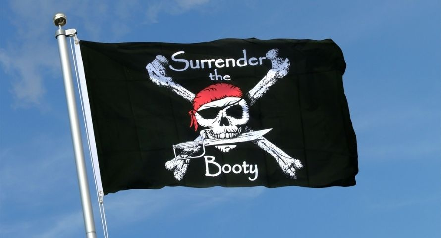 Surrender the booty pirate flag meaning - Sons of Pirate
