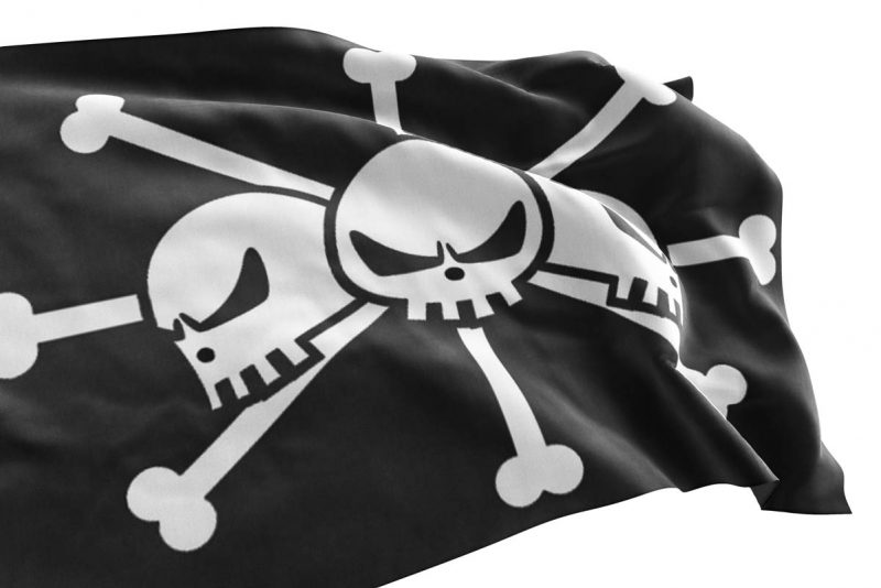 Blackbeard Pirate Flag One Piece - Pirate Flag - Sons of Pirate