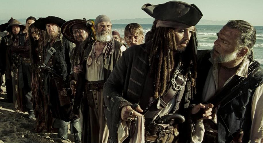 Captain Jack Sparrow and Elizabeth Swann