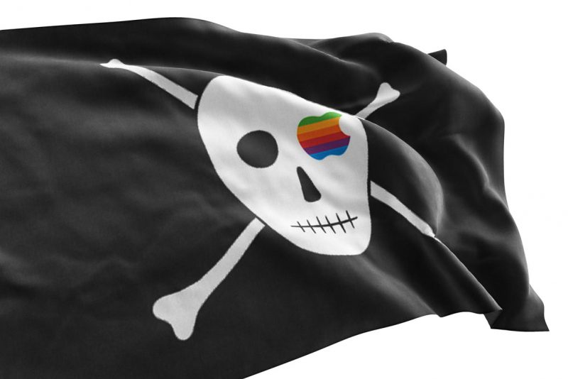 Apple Skull and Crossbones - Pirate Flag - Sons of Pirate