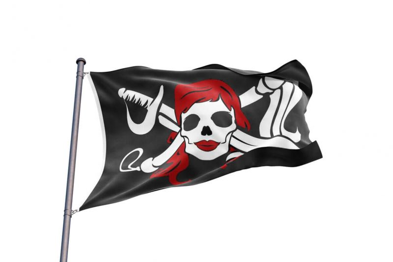 Black Flag Female Pirate - Pirate Flag - Sons of Pirate