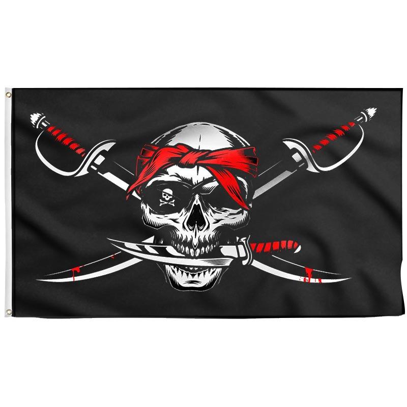 Black Flag No Quarter - Pirate Flag - Sons of Pirate