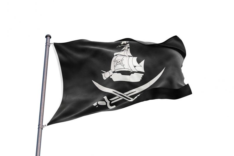 Black Flag Pirate Ship - Pirate Flag - Sons of Pirate