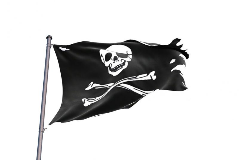 Black Torn Flag - Pirate Flag - Sons of Pirate