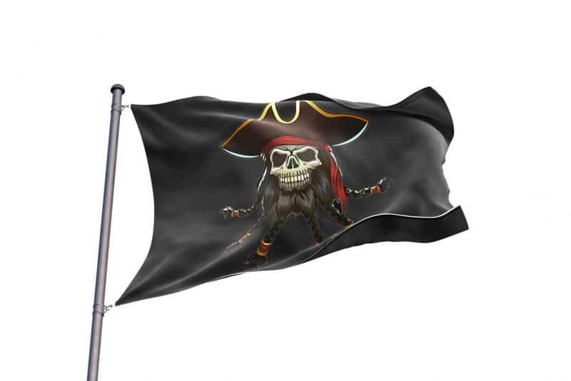 Blackbeard Edward Teach Pirate Flag - Pirate Flag - Sons of Pirate
