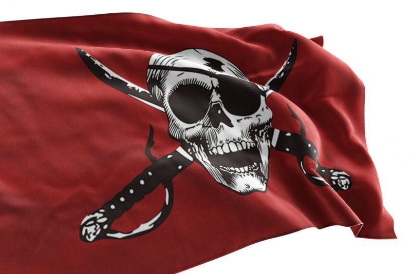 Blood Red Pirate Flag - Pirate Flag - Sons of Pirate