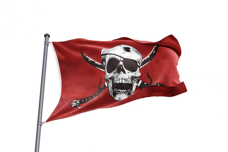 Bloody Red Jolly Roger - Pirate Flag - Sons of Pirate