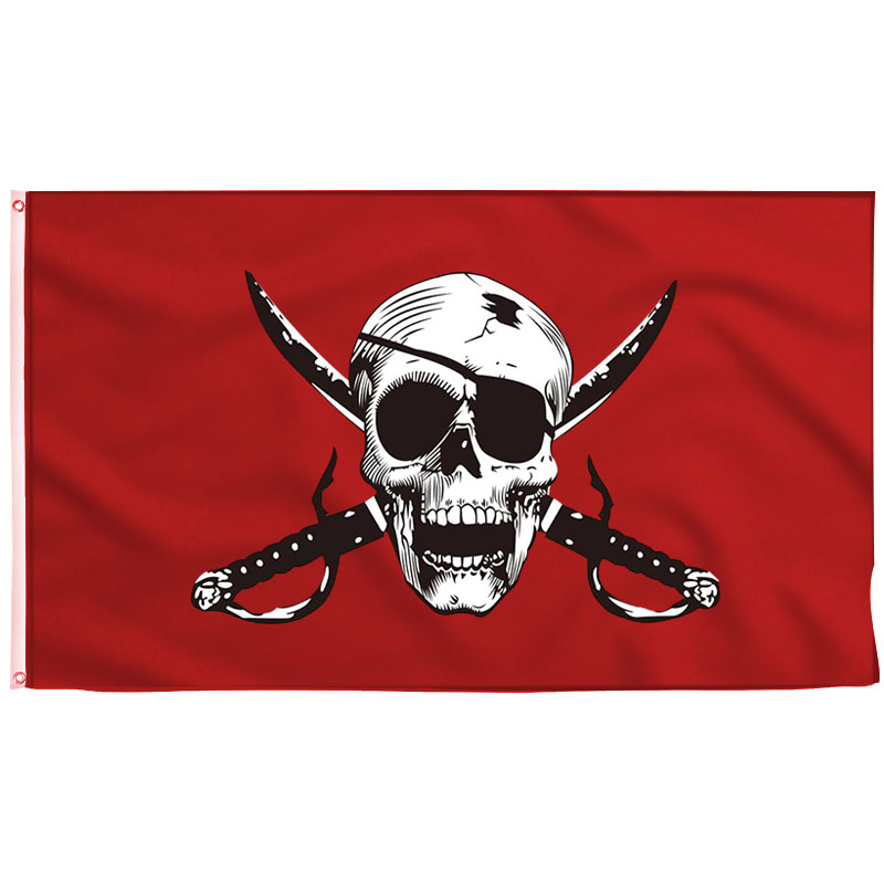Bloody Red Pirate Flag - Pirate Flag - Sons of Pirate