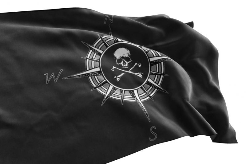 Compass Jolly Roger - Pirate Flag - Sons of Pirate