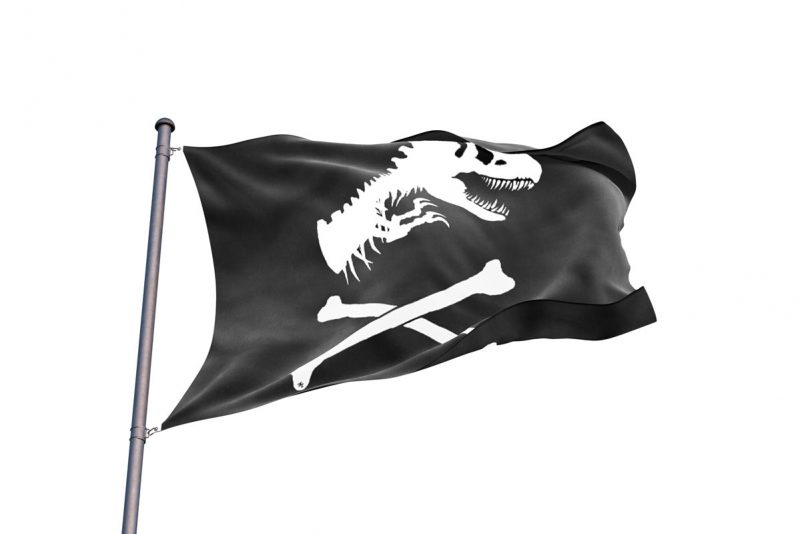 Dinosaur Pirate Flag - Pirate Flag - Sons of Pirate