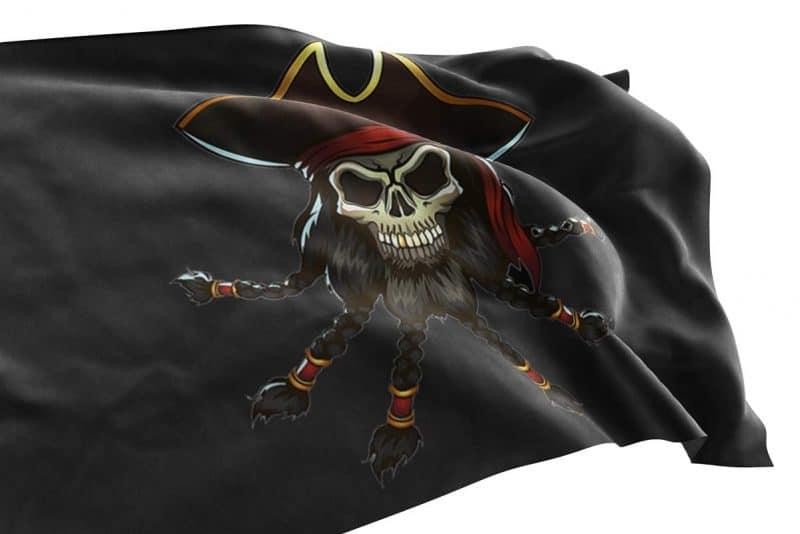 Edward Teach Blackbeard Pirate Flag - Pirate Flag - Sons of Pirate