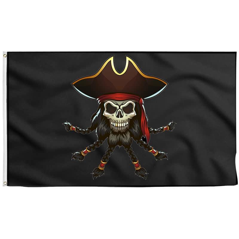 Edward Teach Pirate Flag - Pirate Flag - Sons of Pirate