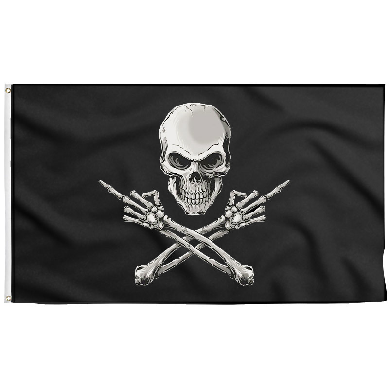 Middle Finger Pirate Flag - Pirate Flag - Sons of Pirate