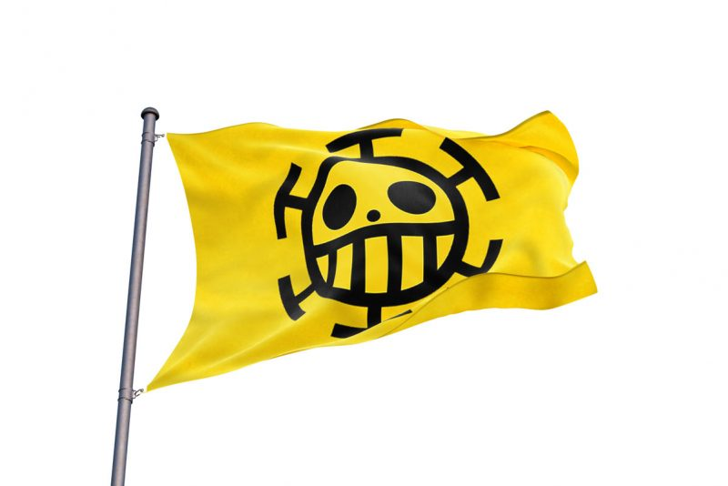 One Piece Trafalgar Law Flag - Pirate Flag - Sons of Pirate
