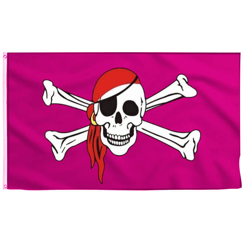 Pink Pirate Flag Jolly Roger - Pirate Flag - Sons of Pirate
