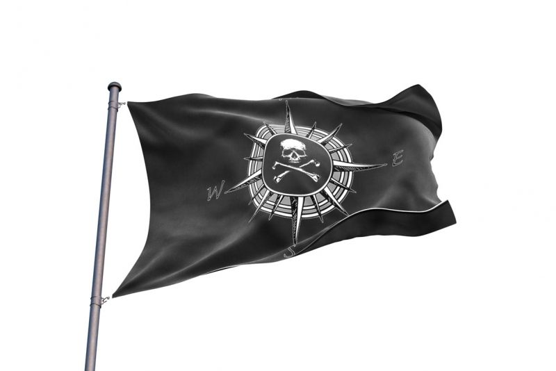Pirate Compass Flag - Pirate Flag - Sons of Pirate