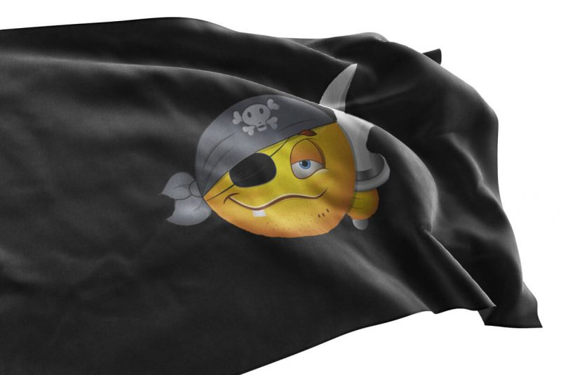 Pirate Emoji Flag - Pirate Flag - Sons of Pirate