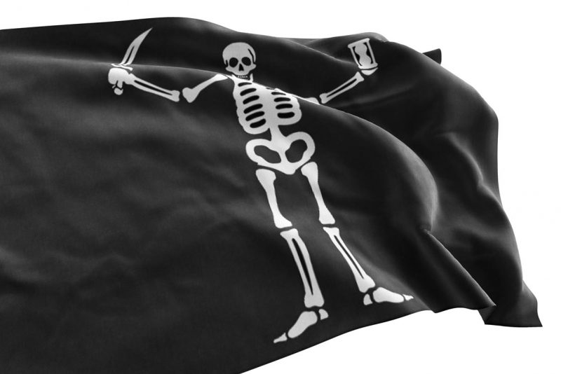 Pirate James Flint Flag - Pirate Flag - Sons of Pirate