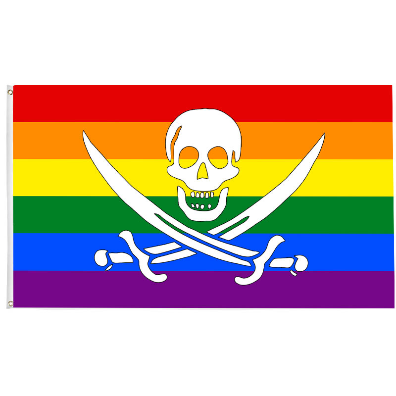 Rainbow Pirate Flag - Pirate Flag - Sons of Pirate