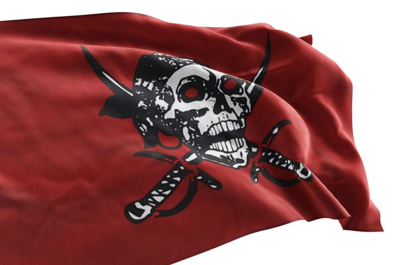 Red Pirate Flag No Quarter - Pirate Flag - Sons of Pirate