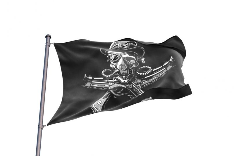 Steampunk Jolly Roger - Pirate Flag - Sons of Pirate