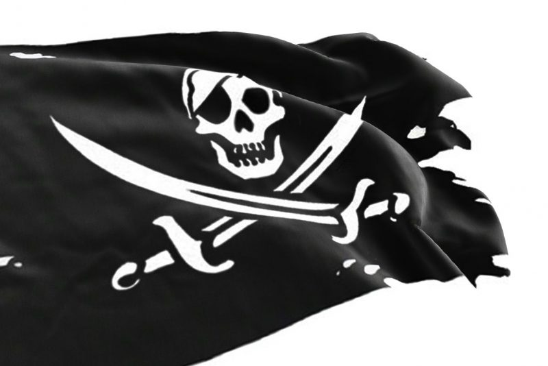 Tattered Jolly Roger Flag - Pirate Flag - Sons of Pirate