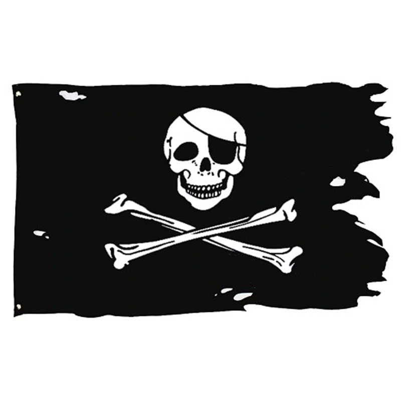Torn Black Flag - Pirate Flag - Sons of Pirate