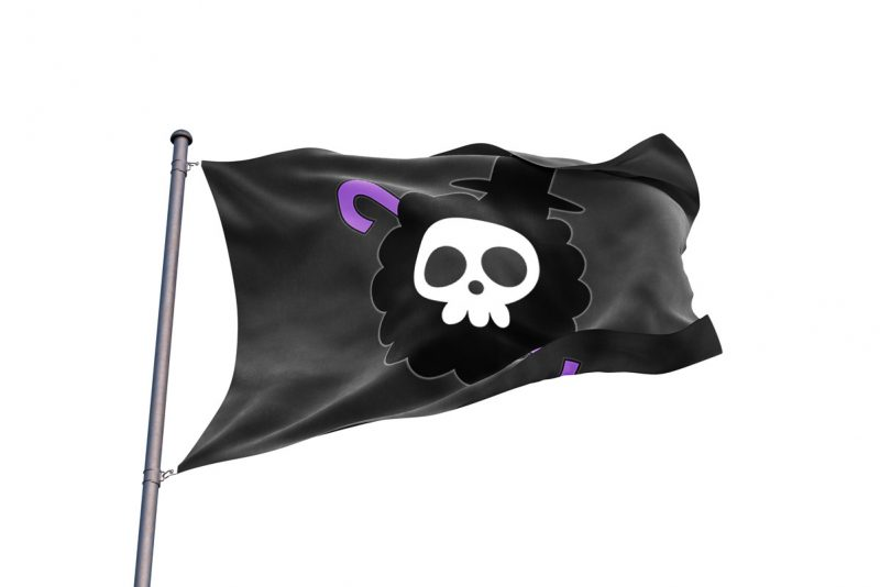 One Piece Brook Jolly Roger - pirate flag - Sons of Pirate